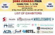 FREE: Hamilton Job Fair - March 14th,  2019