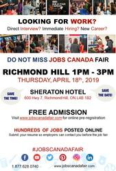 FREE: Richmond Hill Job Fair - April 18th,  2019