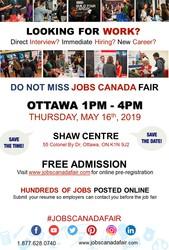Ottawa Job Fair - May 16th,  2019